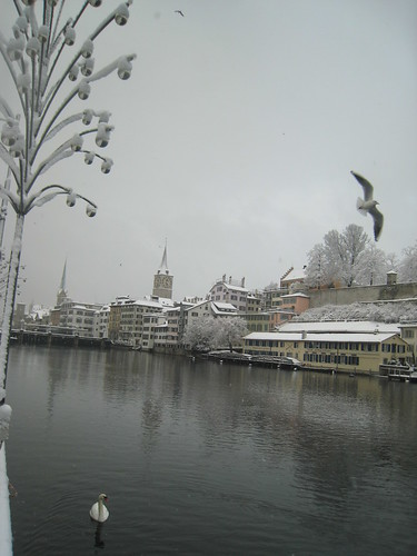 Snowy Zürich, Switzerland