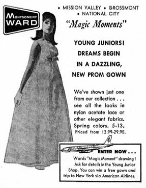 A dazzling new prom gown for 1967