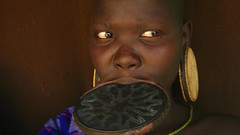 Mursi Woman - Omo Valley Ethiopia (Znapshot.) Tags: portrait woman mouth women tribal piercing valley afrika omovalley bodymod ethiopia tribe piercings surma blick mursi femmes hamer omo turmi mursitribe hammertribe africawoman aethiopien marcobecher michaelatischer wwwmarcobecherde