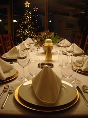 Christmas table is set