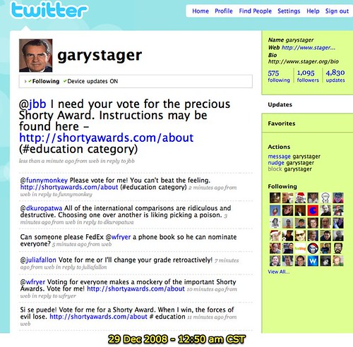 Self-promotion for the Shorty Awards