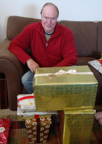 Dad & his Pile of Presents