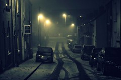 (andrewlee1967) Tags: road snow mist night street canon400d ef50mmf18 andrewlee1967 uk buckleystreet tameside car andrewlee stalybridge cheshire