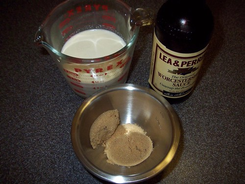 brown sugar cream and worcestershire for soup