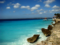 Bachelor's Beach #1 (oijulia) Tags: ocean blue azul mar bonaire netherlandsantilles caribe caribean antilhasholandesas bachelorsbeach