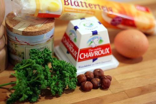 Ingrédients galette au chèvre