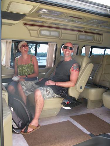Koh Lanta Taxi interior