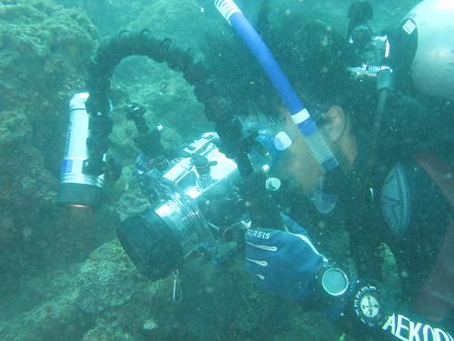 首度下水拍攝實況(1)