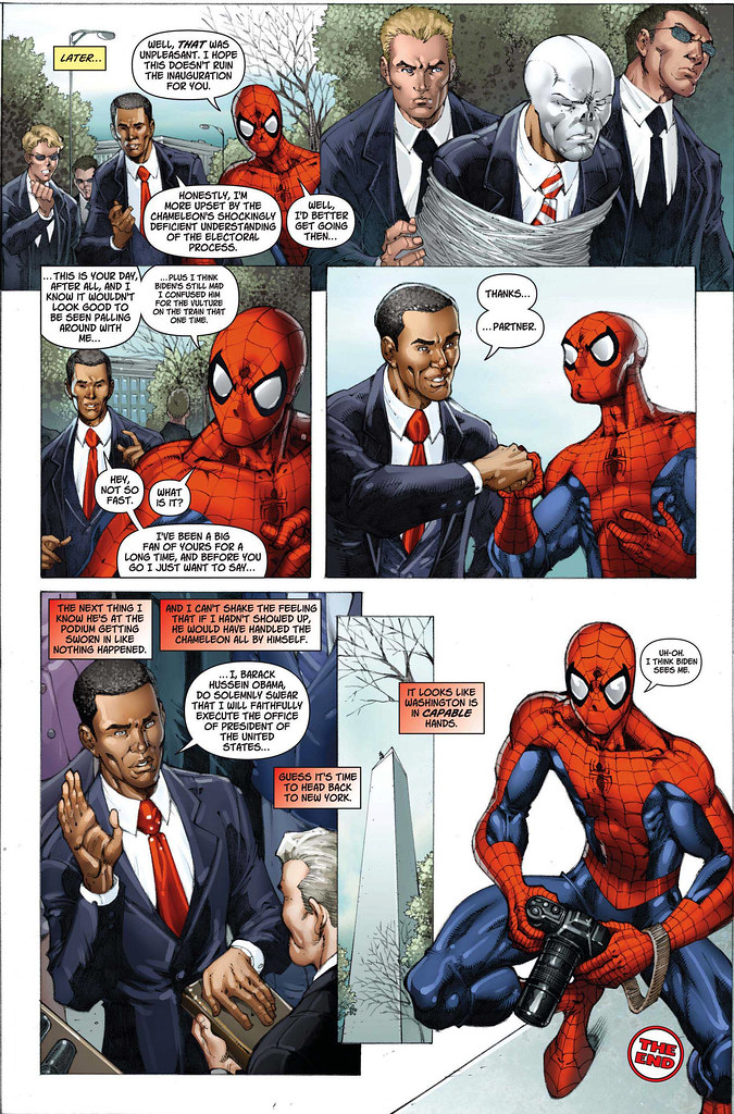 Comic spiderman y Obama complelto