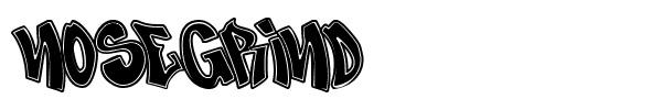 Nose Grind Free Graffiti Font For Design