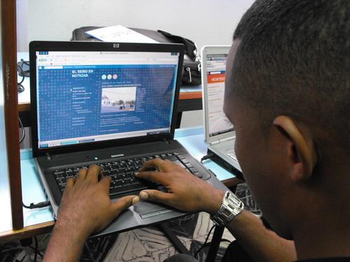 Uno de los participantes abre su blog