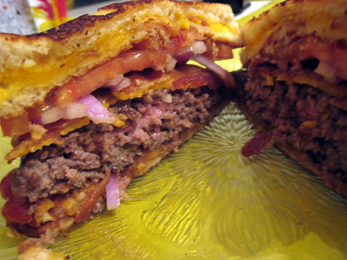 Autopsy shot of the burger