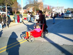 now that's a roadster (Daysleeper724) Tags: christmas red car nc north parade carolina boxcar cart 2008 pittsboro roadster