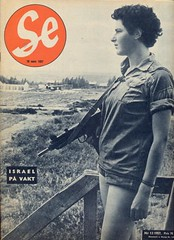 Israel On Guard in March 1957 (hagerstenguy) Tags: mars en woman girl magazine de soldier se la march israel war gun sweden guard guerra swedish nia cover le 1957 50s guerre  fille marzo garde soldat  soldado guardia   on bulan   maret isral 50s pada perang       prajurit
