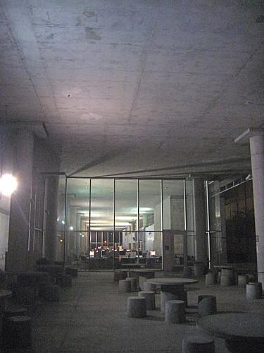 Empty computer center
