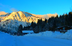 Squaw Valley Ski Resort (Rennett Stowe) Tags: california road blue light sun sunlight mountain snow cold yellow cabin skies unitedstates peak bluesky calif skiresort squawvalley bigsky wintertime sierranevada majestic californiawinter morningsun wintermorning goldenmountain snowroad sierranevadamountains blueandyellow mountainroad coldmorning snowmountain visitingcalifornia mountaincabin mountainsky beautifulmorning winterroad icyroad mountainglow majesticmountains slipperyroad californiamountains themorningsun sunriseinthemountains snowcoveredroad snowcoveredpeak squawvalleyskiresort mountainproperty morningmountain wintertravel clearningstorm plowedroad livinginthemountains sunonasnowcoveredpeak travelingincalifornia beautifulwintermorning snowsunpeak mountainbathedinsunlight lightafterastorm blueandyellowsun snowmountainsky bluemountainsky highsierrawinter snowplowedroad keepingtheroadsopen majesticpeaks