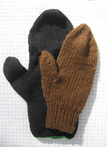Door mitten after felting