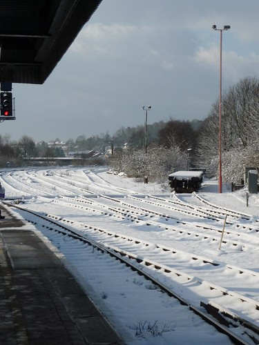 Redhill Station in the snow