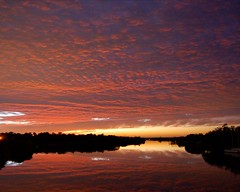 A winter's night falls over the Caloosahatchee in Alva, Florida (Peace Correspondent) Tags: bridge pink winter sunset usa reflection alva clouds d50 river landscape florida caloosahatchee southwestflorida riverscape swfl 5photosaday
