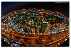 Rush Hour on Planet Dubai (DanielKHC) Tags: longexposure night interestingness high nikon dubai traffic dynamic uae explore jam range fp frontpage dri hdr sheikhzayedroad d300 dynamicrangeincrease digitalblending outstandingshots fisheye105mm bratanesque danielkhc explorefp gettyimagesmeandafrica1