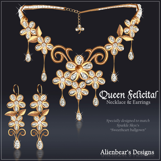 Queen Felicitas gold N&E set