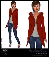 [MG fashion] NauticalCoat.long.orange