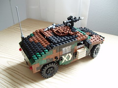 HMMWV revamped (2) (Mad physicist) Tags: truck army model lego military hummer humvee hmmwv usarmy 122 m1025