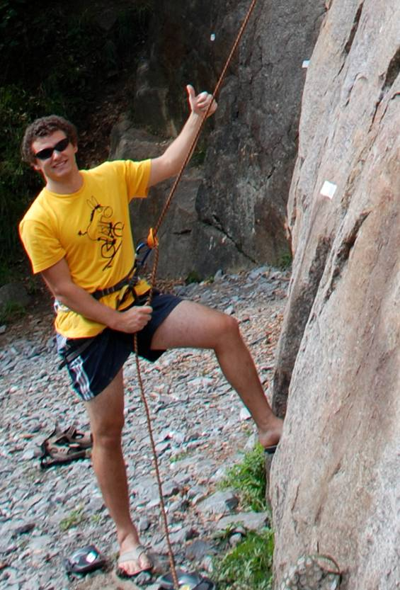 Drahtesel beim Klettern
