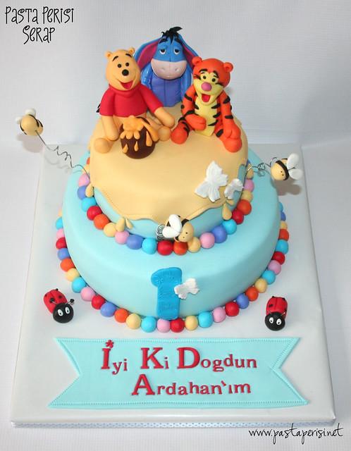 1ST. BIRTHDAY WİNNİE THE POOH CAKE - ARDAHAN