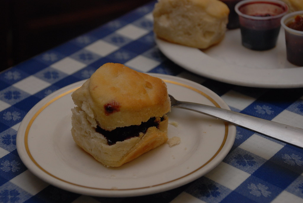 Biscuit with blackberry jam at the Loveless Cafe in Nashville