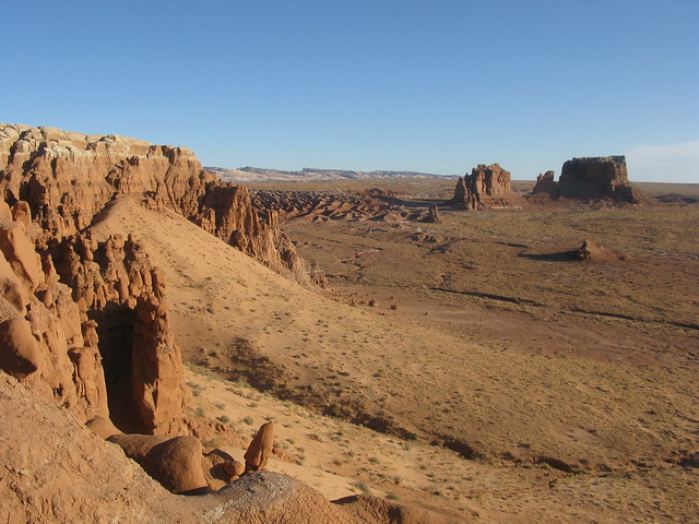 outside east rim of Goblin Valley