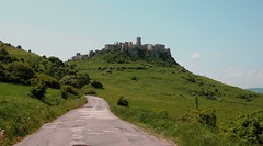 The Road to Spissky Hrad (Dragos Cosmin- Getty Images Artist) Tags: blue sky building tower castle heritage history nova grass stone wall architecture clouds town site big ancient ruins europe view fort path hill landmark medieval unesco age keep historical slovakia walls middle fortifications stronghold fortress hrad spissky ves slovak fastness spisskyhrad spis spi podhradi spisske spisska spiski spicastle