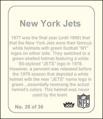 NFL Helmet Sticker Jets 2 back-bj (bncjones) Tags: nfl stickers topps cfl expansion helmets wfl fleer nationalfootballleague usfl gumballking dunruss fleerstickerproject prototypehelmets