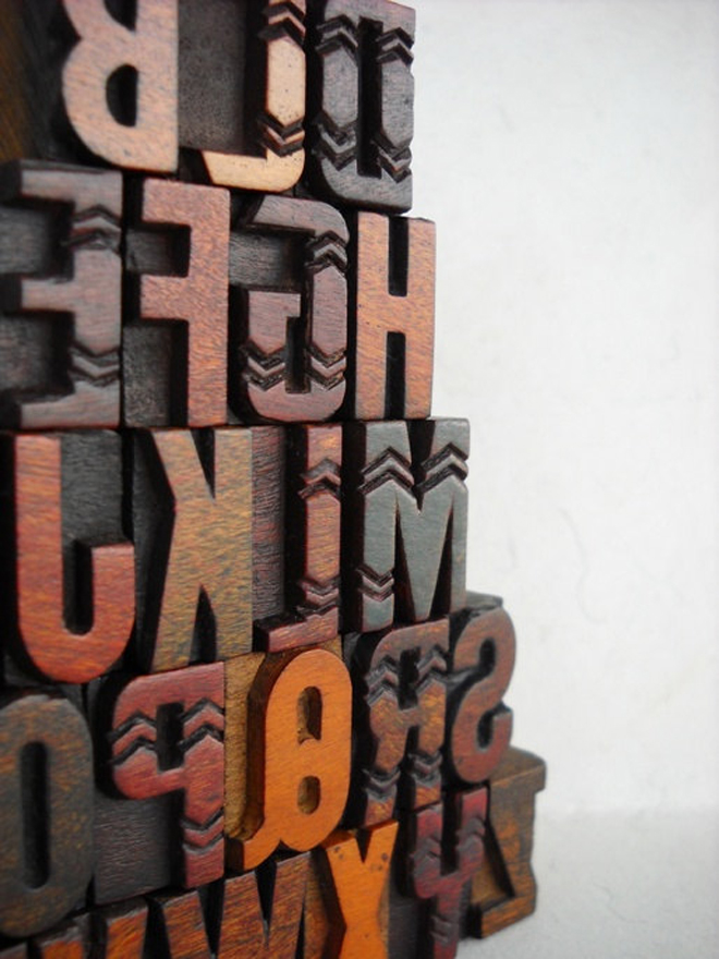 Woodtype | Chevron Close Up