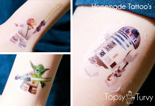Lego-Star-Wars-birthday-party-silhouette-temporary-tattoo
