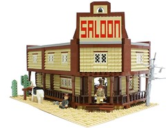 Black Cat Saloon (Matija Grguric) Tags: wild black west cat cowboy lego creation western saloon matija moc grguric