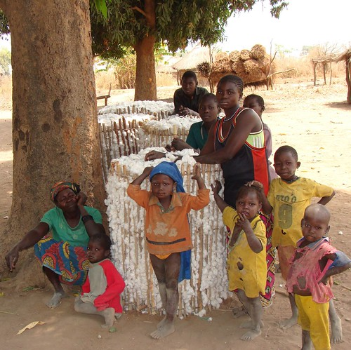 Family in Silambi, Central African Republic