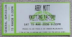 Abby Mott Ticket