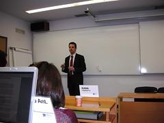 David Blanco, en clase con el MBA