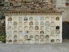 Nichos de niños sin bautizar, Cementerio de Comillas