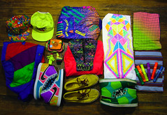 I LOVE COLOR :) (Willbryantplz) Tags: color colors hat shoes neon bright fresh sneakers nike stuff vans lid fannypack creativerecreation