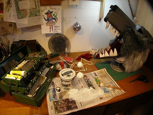 Wolfman Mask Work Station