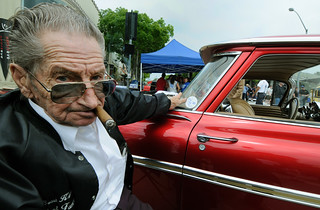 BILL HINES, HIS CAR, Culver City, California