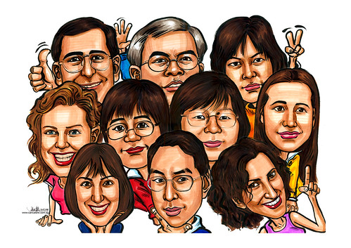 Caricatures group Seagate