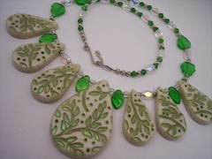 Leaves (clayangel_sc) Tags: art beauty fashion one necklace beads artist handmade originalart ooak polymerclay fimo clay gift sculpey handcrafted wearableart accessories bracelets earrings etsy acessories brooches necklaces polymer artjewelry hypoallergenic adornments artisanjewelry canework handmadebeads artbeads handcraftedbeads pcagoe notpainted polymerclayjewelry oneofakindjewelry fauxjewelry southcarolinaartist jewelryartisan boldjewelry clayangel oneofakindpiece clayangelsc nopaintisinvolved finising