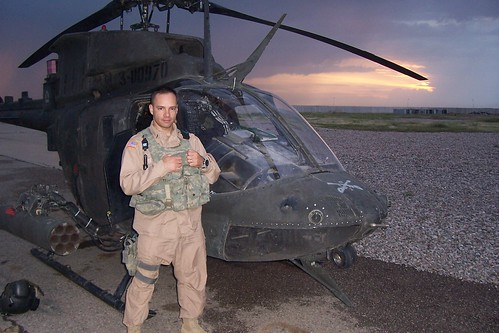 Dan with Kiowa Warrior helicopter