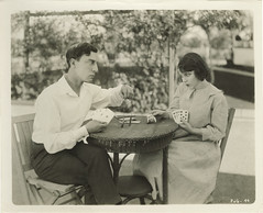Buster Keaton and Viola Dana (Stella Sabata comes to Kill!) Tags: playing classic sepia vintage cards antique handsome poker comedian busterkeaton silentcinema violadana