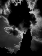 (_smi) Tags: bw silhouette nuvole torre praga cielo fav nero dalbasso
