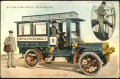 Postcard of the Milwaukee Mail Car (Smithsonian Institution) Tags: wisconsin truck automobile post mail milwaukee delivery postal usps mailman smithsonianinstitution usmail maildelivery nationalpostalmuseum unitedstatesmail1