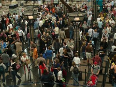 Denver Airport Security Lines (alist) Tags: travel people airport cattle air security denver line